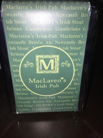 MacLaren's Irish Pub: Great time..Nice music