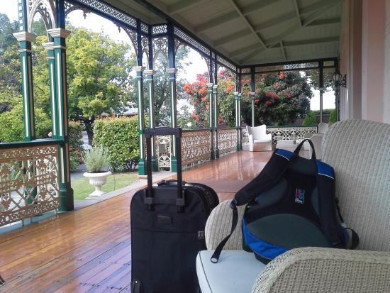 Gattonside Heritage Accommodation: verandah at gattonside