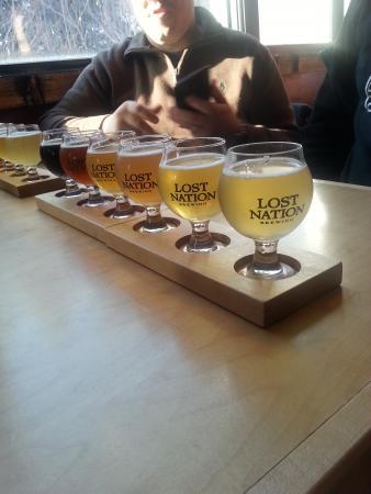 Lost Nation Brewing: Beer flight at Lost Nation