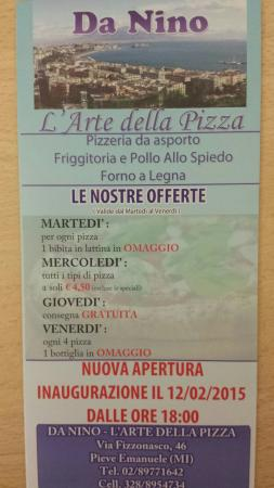 Opera, Italie : La pizzeria si è trasferita a Pieve emanuele in via Fizzonasco ascoltare, 46.