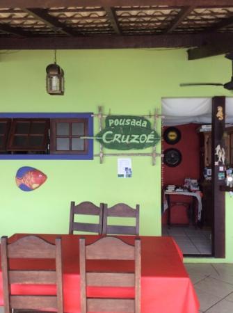 Pousada Cruzoé: Recepção e Restaurante!