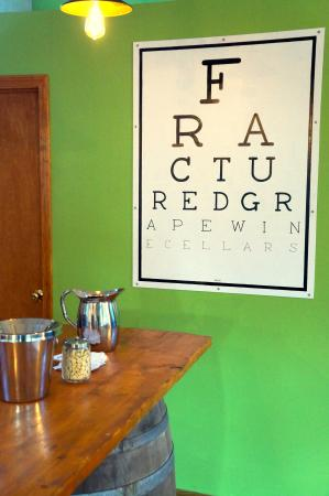 Eye Chart Picture Of Fractured Grape Wine Cellars New Wilmington
