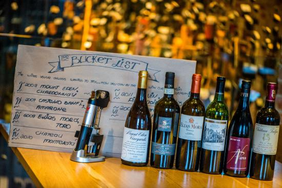 ENO Wine Bar: Bucket List poured with Coravin