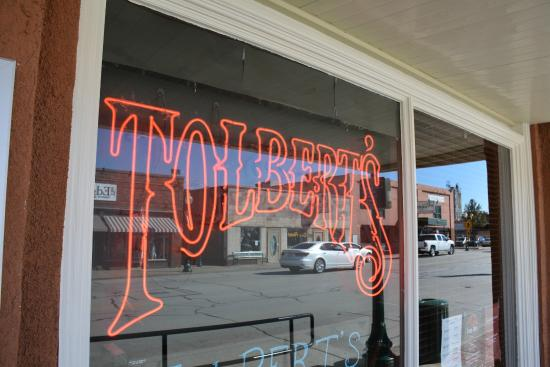 Tolbert's: Front Window at the entrance