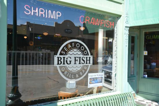Big Fish Seafood Grill & Bar : Signage on front window