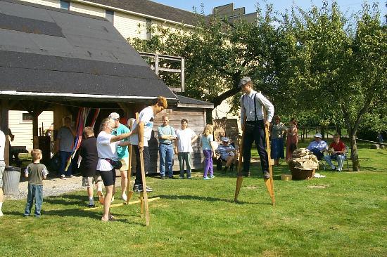 Kilby Historic Site : Interactive Activities Walking on Stilts