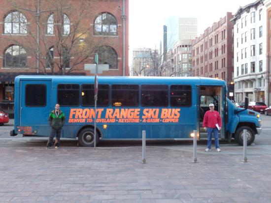 Front Range Ski Bus: Loading at Union Station in Denver