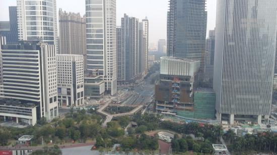 Ascott IFC Guangzhou: view from apartment window