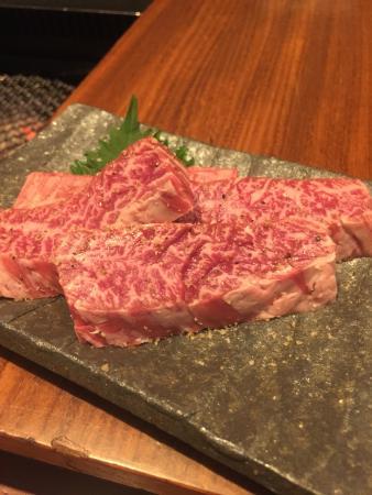 Grilled Beef Manno Horumonten Sankyubashi