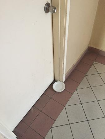 Bukit Tinggi, Malasia: Empty plate on the floor