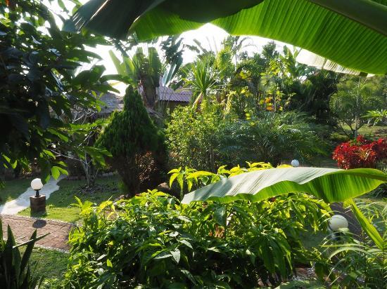 Mai Siam Resort: Le jardin tropical, oeuvre de Pranee