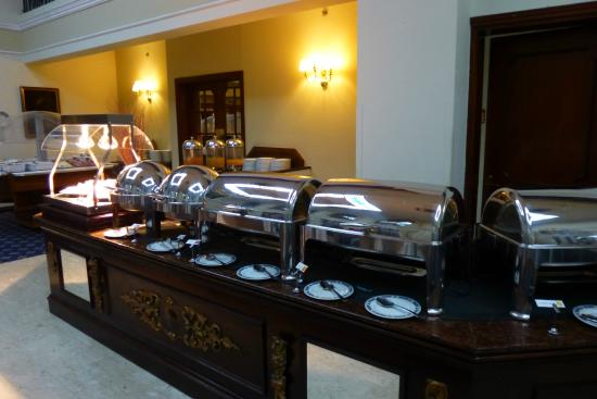 The Victoria Hotel : The cooked breakfast selection, varied daily.