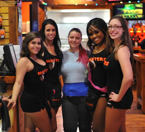 Hooters: Myself with four waitresses