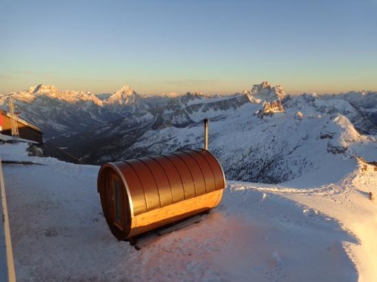 sauna in the snow bild rifugio lagazuoi cortina d ezzo tripadvisor