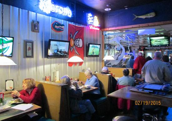blue lagoon saloon dining area