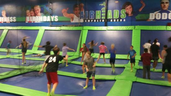 AirHeads Trampoline Arena : Fun with jumping on the trampolines