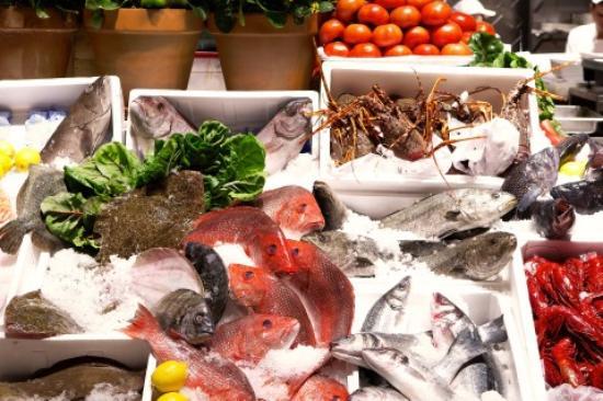 Milos nyc fish market picture of estiatorio milos new for Nyc fish market