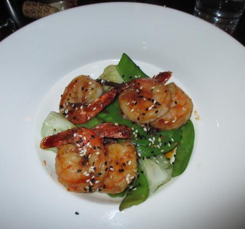 The Consort Bar: delicious ginger shrimp saute