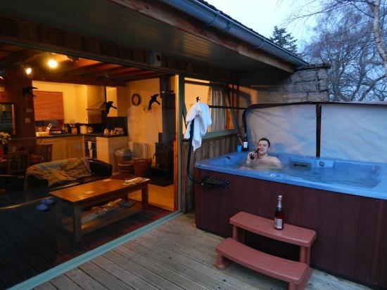 hot hot tub picture of wildside highland lodges whitebridge rh tripadvisor co uk