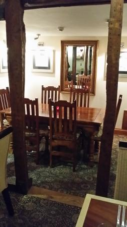 The Castle Inn: The alcove - and the only decent table