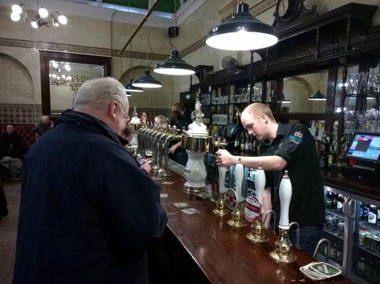Sheffield tap: The bar.