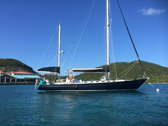 Alaunt Charters day sails: Our Gallant 53 at her mooring