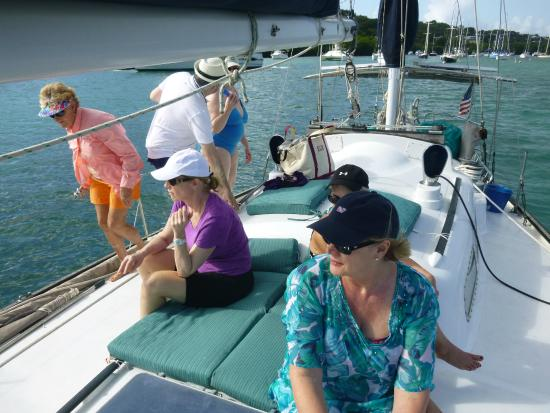 Alaunt Charters day sails: Getting underway from the marina