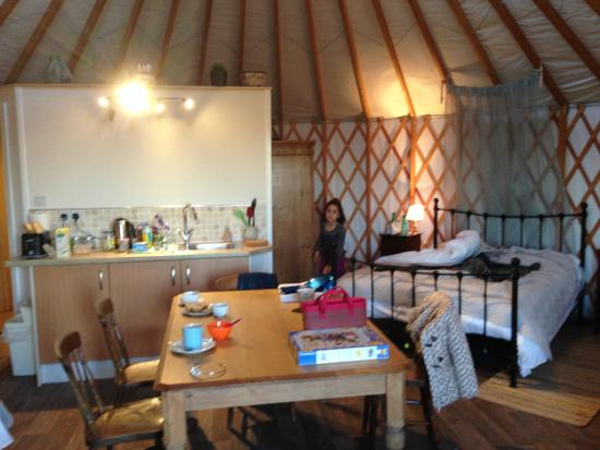 The Old Piggery Bed and Breakfast: kitchen and bed
