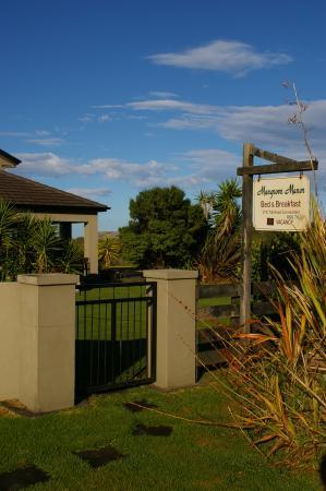 Mangrove Manor: The drive way entrance