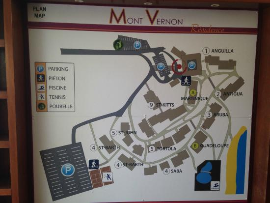 Mount Vernon Beach Resort: The building map is helpful for finding your unit, but many things no longer exist on map.