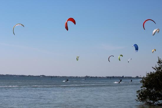 Ron Jon Kiteboarding Shop and School: Kiters at The Slick in Cocoa