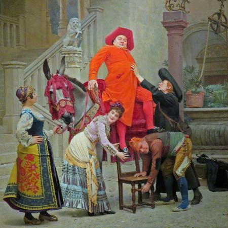 The Haggin Museum: Humorous painting in the second floor galary