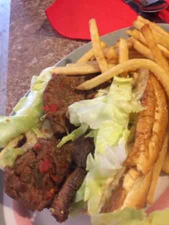 Javier's Bistro: Steak Sandwich...unreal flavor!