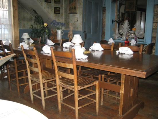 Large Table In Our Dining Room Picture Of The Log House 1776