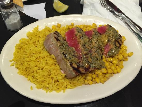 Grilled rare ahi tuna foto van blue salt fish grill for Bluesalt fish grill