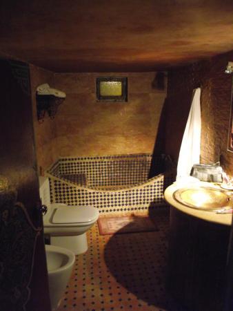 Riad Meknes: bagno dorato