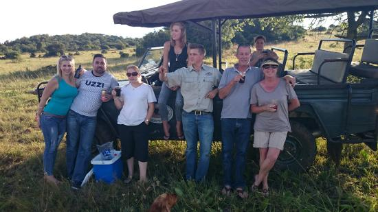 Greylingstad, Sydafrika: Game drive with sundowners