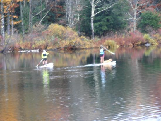 Canoeing on the river Green Mountain Sugar House