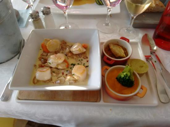 Restaurant Le jardin De Leontine : Noix de saint Jacques