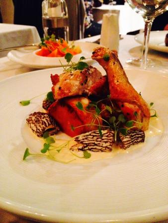 63 Degrees: Guinea Fowl with deliciuous Morels!