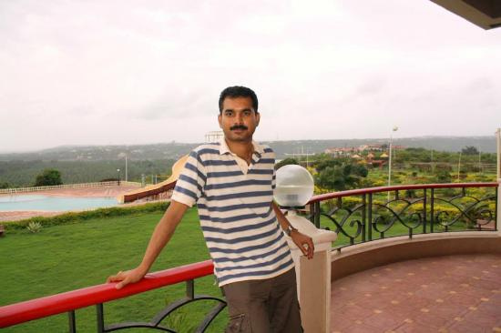 Kohinoor Samudra Beach Resort : Ratnagiri city and Arabian sea on background