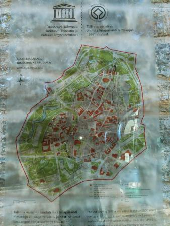 Toompea Hill Old Town map Picture of Toompea Hill Tallinn