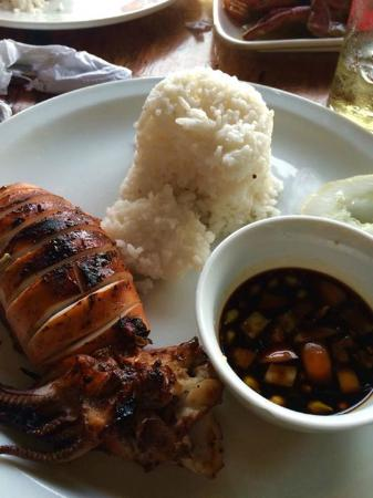 Bacuit Grill : grilled squid