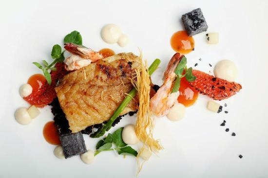 "De Kloof Restaurant: ""Something Fishy"": Soy glazed yellow tail, lemongrass prawns, Salt & Pepper squid, Lassi, squid"