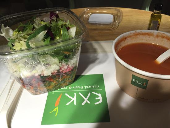 EXKi Italiens: Salade lentille betterave fêta figue très bonne. La soupe est sans intérêt.