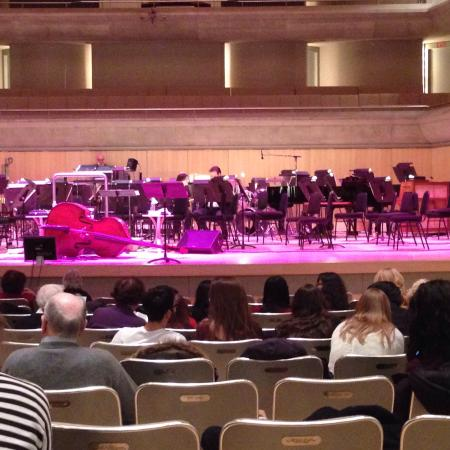 Roy Thomson Hall: The stage. Great view from my seats!