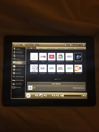 ITC Grand Chola, Chennai - a Luxury Collection Hotel: The iPad room control