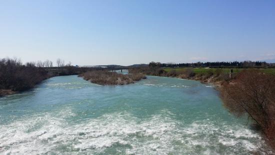 Aspendos Bridge: View of river from bridge