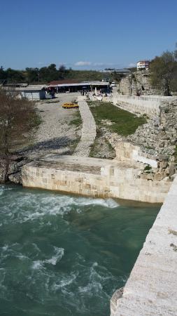 Aspendos Bridge: River bank