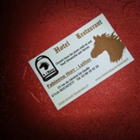 Hotel Restaurant A LEtrier Carte De Visite Du Resto